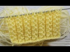Gum is simple and spectacular. Baby Knitting Patterns, Knitting Stiches, Knitting Videos, Easy Knitting, Knitting For Beginners, Knitting Designs, Stitch Patterns, Crochet Bedspread, Love Crochet