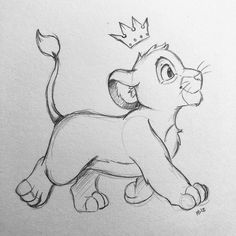 Disney drawings Disney cartoon drawings and Disney character drawings - Beste Pins Disney Pencil Drawings, Disney Character Drawings, Disney Drawings Sketches, Cute Disney Drawings, Art Drawings Sketches Simple, Animal Drawings, Cute Drawings, Pencil Art, Character Art