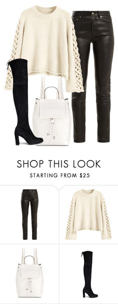 """""""Untitled #344"""" by slythergirl ❤ liked on Polyvore featuring Yves Saint Laurent, French Connection and Stuart Weitzman"""