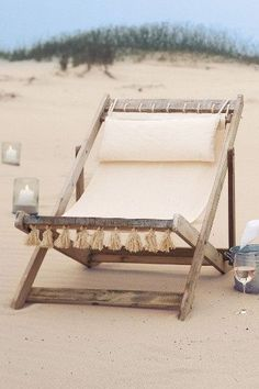 Beach chair by the ocean, Seaside Style. Foe MORE coastal inspiration FOLLOW http://www.pinterest.com/happygolicky/beach-beach-beach-off-to-the-coastal-chic-cottage-/