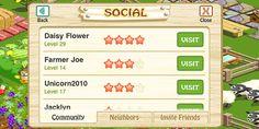"""Hay Day, menú social - Visto en """"7 Indicadores en Monetización de Videojuegos que puedes potenciar"""" - AdverGaming.Info"""
