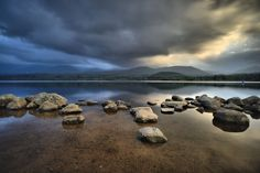 Loch Morlich - Evening at a very calm Loch Morlich in the Cairngorms National… Cairngorms National Park, Scotland, National Parks, River, Landscapes, Calm, Outdoor, Paisajes, Outdoors