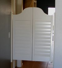 White Shutter Swinging Saloon Doors I Want Swing Going Into The Laundry Room Pantry Like Mammaw Had