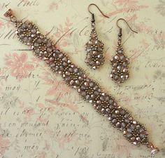 Linda's Crafty Inspirations: Bracelet of the Day: Crystal Tile Bracelet - Capri Gold
