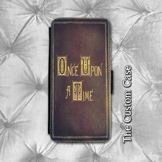 Once Upon a Time Leather Flip Case, Fairy Tale Book Inspired Wallet Case, Samsung Galaxy 3/4/5/6, Iphone 5S/5c/6/6 Plus