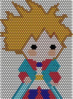 Motifs Perler, The Little Prince, Peyote Stitch, Brick Stitch, Hama Beads, Bead Crafts, Beading Patterns, Cartoon Characters, Stitch Patterns