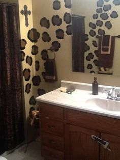 Cheetah Leopard Print Bathroom Wall Word Decor Artwash
