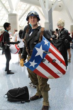 Captain America cosplay by B-neoZEN on DeviantArt Captain America Motorcycle, Captain America Art, Captain America Cosplay, Captain Marvel, Captain Hat, Thor Cosplay, Spiderman Cosplay, Halloween Cosplay, Cosplay Costumes