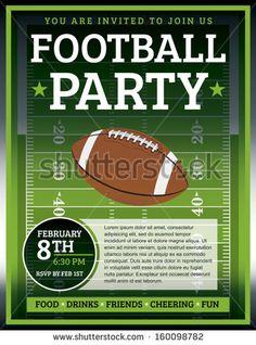 superbowl party flyer