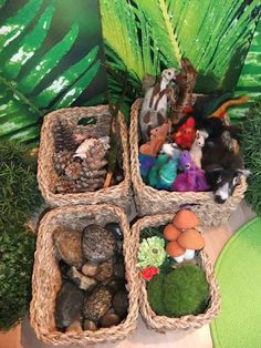 """Inviting resources for small world play at Fantasifantasten ("""",) Play Based Learning, Learning Through Play, Preschool Crafts, Crafts For Kids, Natural Play Spaces, Diorama, Family Day Care, Block Area, Waldorf Crafts"""