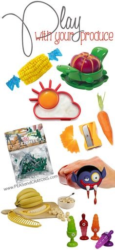 Quirky kitchen gadgets to make fruit and veggies FUN! <3