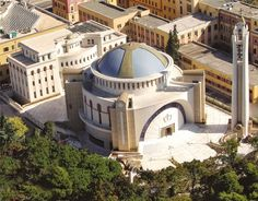 "The complex of new Cathedral of Tirana ""Resurrection of Christ"", the Synodical and the Culmtural Centre - News Arched Windows, Albania, Cathedral, Mansions, House Styles, Mosques, Guangzhou, Centre, Christ"