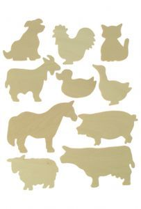 Wooden Drawing Template - Farm Animals