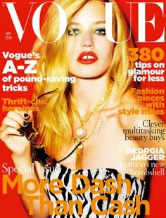 Georgia May Jagger, daughter of Mick Jagger, Mario Testino photographed her in an ASOS dress for her debut Vogue cover - the November 2009 issue. Vogue Magazine Covers, Fashion Magazine Cover, Fashion Cover, Vogue Covers, Georgia May Jagger, Mario Testino, Vogue Uk, Vogue Fashion, High Fashion