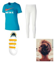 Sporty Set by sydney-kloveyou on Polyvore featuring polyvore, fashion, style, NIKE, Rick Owens Lilies, Chiara Ferragni and clothing