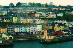 Cobh, Cork, Ireland- it's so pretty in person. Oh The Places You'll Go, Places To Travel, Places To Visit, Ireland Vacation, Ireland Travel, Travel Europe, Cobh Ireland, Future Travel, Wonders Of The World