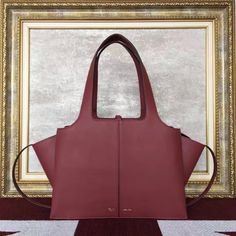 e04e87c3fb Celine Small Tri-Fold Shoulder Bag 100% Authentic Burgundy Bag