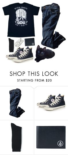 """""""I've Been Doing Well"""" by bydefault ❤ liked on Polyvore featuring Converse, Blue Blue Japan, Volcom, RIPNDIP, men's fashion, menswear, kitty, navyblue and auracolors"""