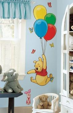 Winnie The Pooh Decor, Piglet Winnie The Pooh, Winnie The Pooh Nursery, Disney Nursery, Baby Room Boy, Baby Bedroom, Childs Bedroom, Girls Bedroom, Baby Room Themes