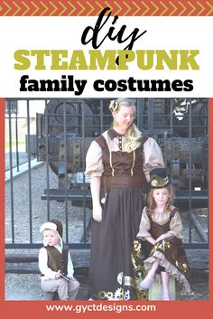 DIY Steampunk Costumes for the Family - Sew Simple Home Handmade Halloween Costumes, Halloween Sewing, Halloween Home Decor, Couple Halloween Costumes, Halloween Cosplay, Diy Costumes, Cosplay Costumes, Halloween Crafts, Halloween Ideas