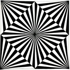 A Best Geometrical Pattern Optical Illusion Quilts, Illusion Drawings, Cool Optical Illusions, Illusion Art, Op Art, Art Fractal, Images Murales, Graph Paper Art, Geometry Art