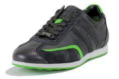 Hugo Boss Mens Fashion Sneakers Stiven Suede Shoes 50247608 (9, Dark Grey)
