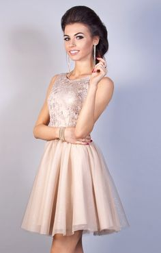 5b56506aa9 40(L) złoty sukienka mini krótka KM-1786 - 5940903694 - oficjalne archiwum  allegro