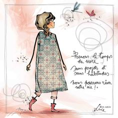"MYRA & les couleurs ...: mon amie ""LUCE"" Illustration Française, Illustrations, Image Positive, Positive Attitude, Artist Journal, Art Sketchbook, Black Art, Love Art, Caricature"