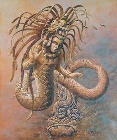 """Kukulkán """"La serpiente emplumada"""" de los Mayas.                              …"""