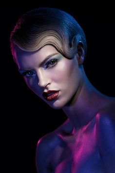 Beauty gel editorial shoot. Model with creative make up and blonde hair. Lindsay Adler Photography.