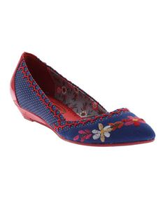 Royal Blue Floral Tiny Dancer Shoe #zulily #zulilyfinds