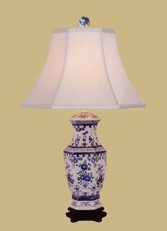 Table Lamp Porcelain Blue White Vase Lamp 26 High 14 Wide Hand Painted - Table Lamps - Ideas of Table Lamps Asian Table Lamps, Rustic Table Lamps, Buffet Table Lamps, White Table Lamp, Bedside Table Lamps, A Table, Blue And White Vase, White Vases, Asian Room