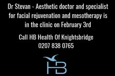 Call us to book an appointment 0207 838 0765 #aesthetics #mesotherapy