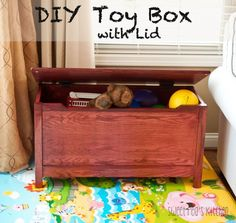 DIY Toy Box with Lid | From: Sweetpeaskitchen.com