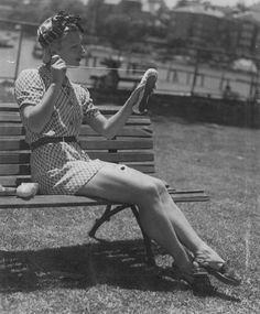 In the mid-1930s, women wore shorts under light dresses or one-piece shorts and shirt combinations called playsuits. These outfits were usually made of cotton or Rayon. They were usually worn to the beach, at picnics or for sports.
