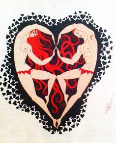 Erte 'Male and Female Heart'