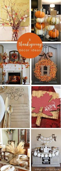 8 thanksgiving decor ideas