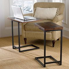 expanding tray table - Sofa Side Table