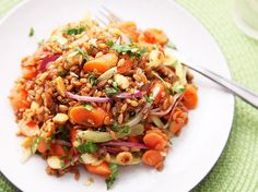 Carrot and Rye Berry Salad with Celery, Cilantro, and Marcona Almonds | Serious Eats : Recipes