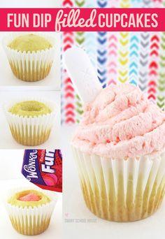 How to make a Fun Dip Filled Cupcake #DIY #Cupcake