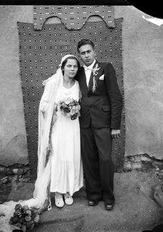 Vintage Romanian bride and groom. Photo by Costica Acsinte. Vintage Wedding Photos, Vintage Weddings, Wedding Pictures, Vintage Photos, Romanian Wedding, Wedding Attire, Wedding Dresses, Vintage Clothing Stores, Beautiful Wedding Gowns