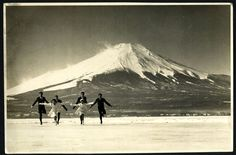 Mt. Fuji and skaters / 1960s