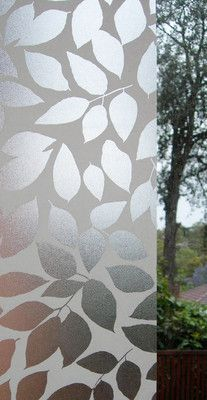 Leaf Frosted Window Film Privacy Frosting Glass 1mx1m