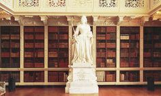 The Long Library at Blenheim Palace, Oxfordshire, UK