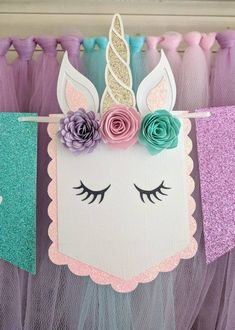 Unicornio parte bandera de unicornio primer cumpleaños silla | Etsy