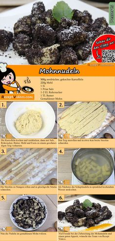 Poppy seed pasta recipe with video - recipe ideas / pasta dishes - Looking for recipe ideas for a sweet lunch? The poppy seed pasta video is easy to find with the hel - Hungarian Cuisine, Hungarian Recipes, Winter Desserts, Köstliche Desserts, Poppy Seed Recipes, Easy Cooking, Cooking Recipes, Veggie Recipes, Healthy Recipes