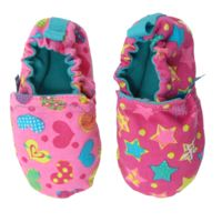 WeeChooze in Celebrate Weechooze Baby Booties: Designed to delight tiny toes and engage little inquisitive minds, weechooze features CHOOZE's signature coordinating prints, stimulating colors, super soft microfiber lining, elasticized ankles, and non-slip soles. Available in 3 sizes: 0-6 months, 6-9 months, and 9-12 months.