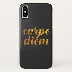 Shop Gold Carpe Diem Case-Mate iPhone Case created by SageTypo. Latin Quotes, Carpe Diem, Plastic Case, Apple Iphone, Iphone Cases, English, Gold, Iphone Case, I Phone Cases