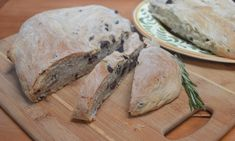 Rosemary Olive Bread with Cracked Black Pepper Cut Recipe In Half, Olive Bread, Cracked Black Pepper, Tasty Bites, Dry Yeast, Meal Prep, Meals, Recipes, Food