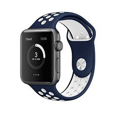 Apple Watch Band, AWStech 38mm Soft Silicone Nike+ Sport Style Replacement Watch band Strap for Apple iWatch Series 1 Series 2 - Midnight Blue/White https://www.carrywatches.com/product/apple-watch-band-awstech-38mm-soft-silicone-nike-sport-style-replacement-watch-band-strap-for-apple-iwatch-series-1-series-2-midnight-bluewhite/  - More Festina ladies watches at https://www.carrywatches.com/shop/wrist-watches-for-women/festina-watches-for-women/